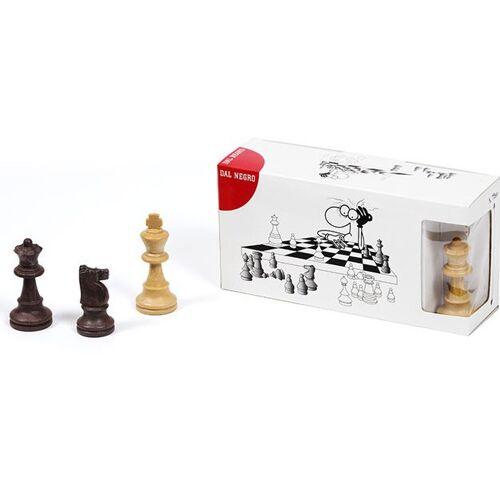 Dal Negro schachfiguren 7,5 cm beige/dunkelbraun 3 Figuren