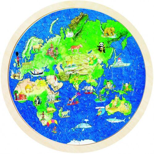 Goki puzzle Globe Holz 57 Teile