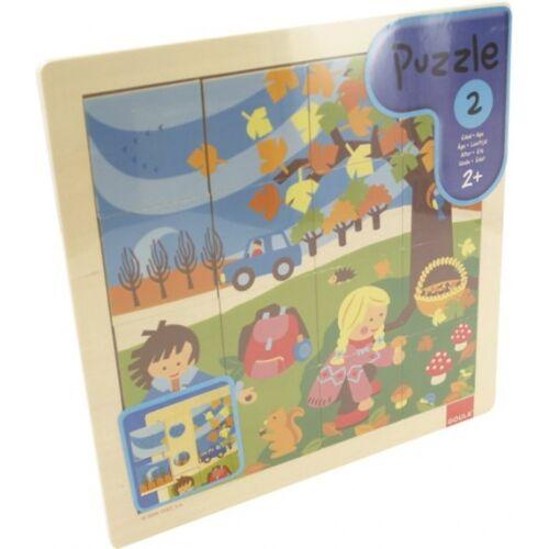 Goula puzzle Herfst junior holz 16 teile