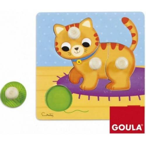 Goula puzzle Poes junior Holz 4 Teile