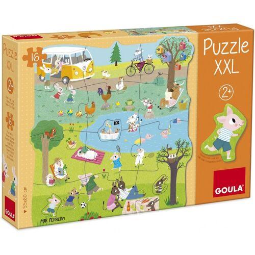Goula XXL Puzzleteile 16 nach außen