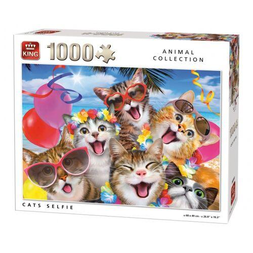 King Puzzle Katzen Selfie 1000 Stück