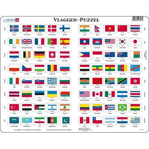 Larsen puzzle Flaggen Junior Karton 80 Teile