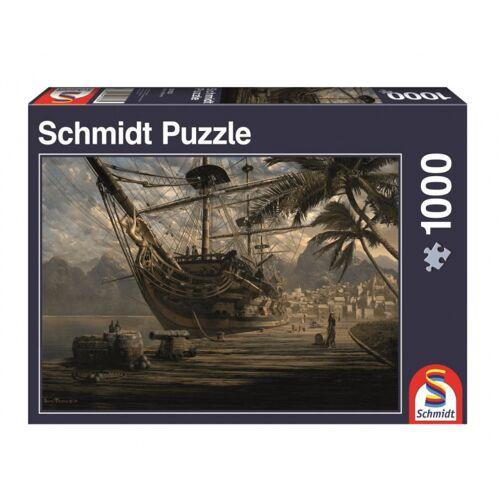 Schmidt Puzzle puzzle Schiff vor Anker Karton 1000 Teile