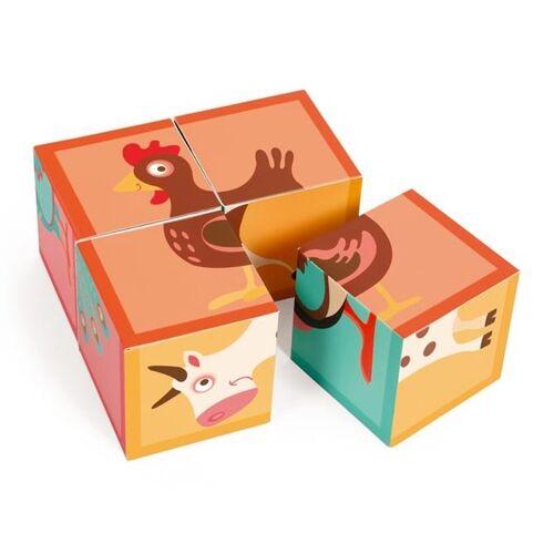 Scratch Block Puzzle Farm Karton 4 Blöcke