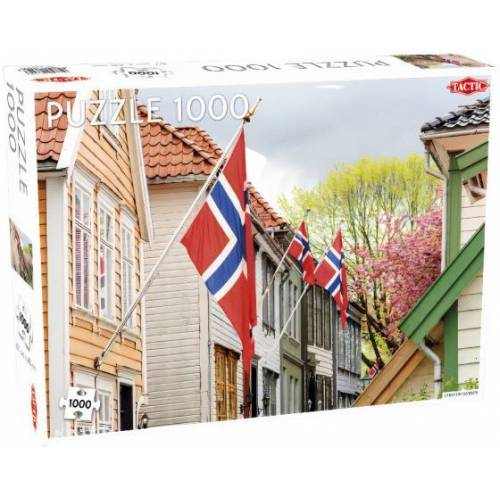 Tactic puzzleNorwegische Flagge 67 x 48 cm 1000 Teile