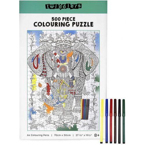 The Twiddlers puzzle Elefant DIY 70 x 50 cm 506 Teile