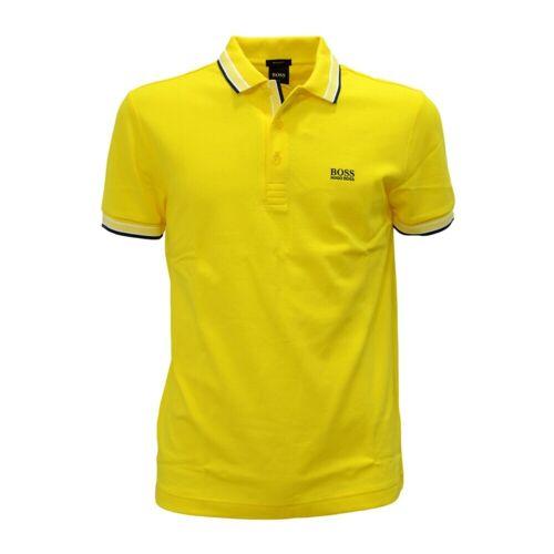 Hugo Boss, Polo in pique cotone con logo sul sottocollo Paddy 50398302 Gelb, Damen, Größe: S S Gelb female