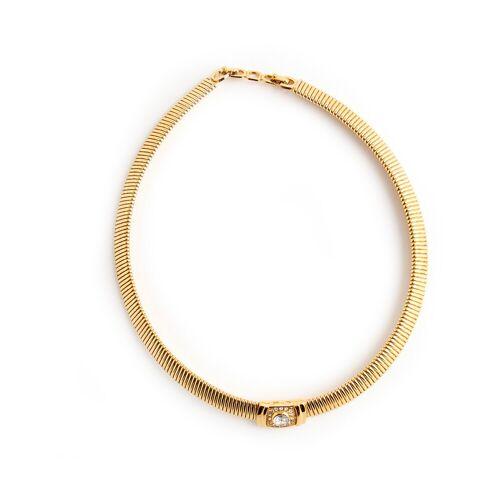 Dior Vintage, Gebrauchter Kristallhalsband Gelb, Damen, Größe: One size One size Gelb female