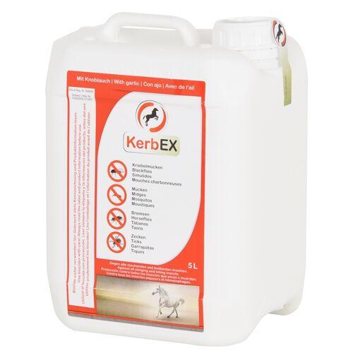 KerbEX rot, mit Knoblauch - Insektenabwehrmittel für Pferde, 5 Liter