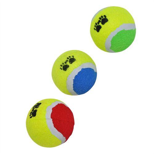 ED-CO 3er Set Tennisbälle Hunde Wurfspielzeug