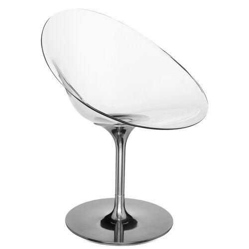 Kartell Ero/S/ Sessel mit Drehfuß, weiß glänzend (undurchsichtig)
