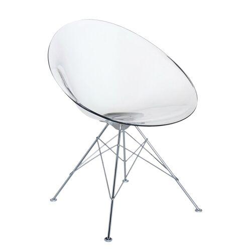 Kartell Ero/S/ Sessel mit Gestell, weiß glänzend (undurchsichtig)