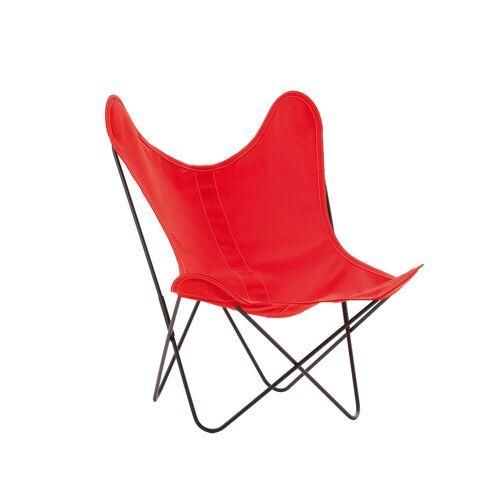 Airborne Design AA by Airborne Sessel, schwarz lackierte Struktur, Baumwollhusse, schwarz
