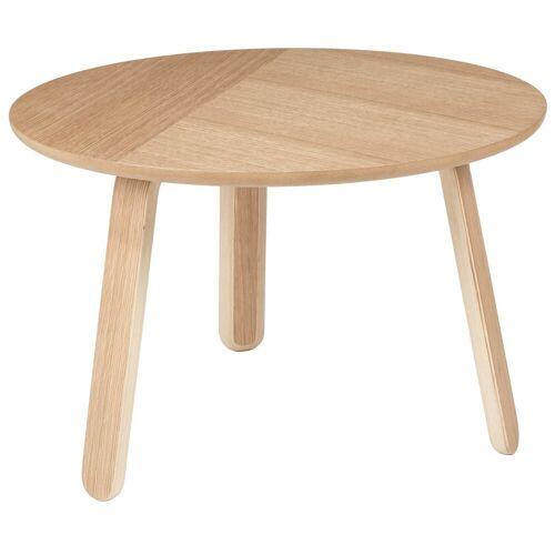 Gubi Paper Tisch, Eichenholz, Durchmesser 60 cm