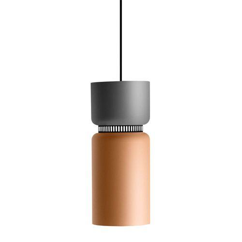 B.Lux Aspen S17B LED, Schirm oben zitronengelb, unten grau