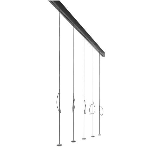 Anta Ny auf Schiene 194 cm, 5 Pendel ohne Höhenverstellung, schwarz