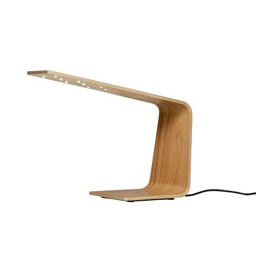 Tunto LED1 Eichenholz Tischleuchte, weiß