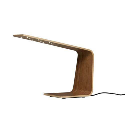 Tunto LED1 Walnussholz Tischleuchte, natürliche Holzfarbe