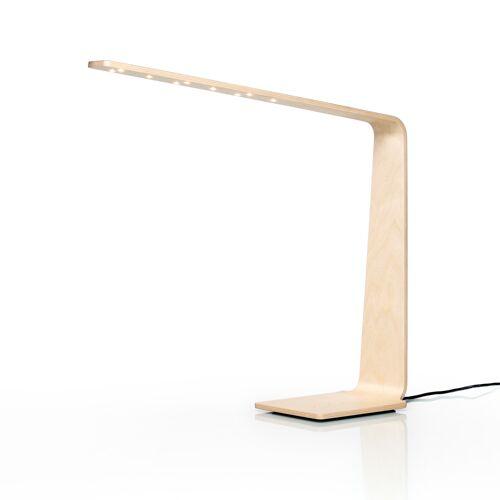Tunto LED4 Birkenholz Tischleuchte, natürliche Holzfarbe