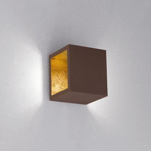 Icone Cubo 1.10 Wand-/Deckenleuchte, chocolate (braun) - Blattgoldinnen