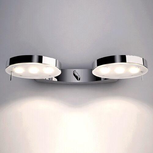 Milan 3 LED doppelte Wandleuchte 6340 oder 6360, chrom