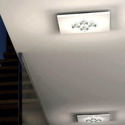 Milan Polifemo LED Deckenleuchte quadratisch, weiß
