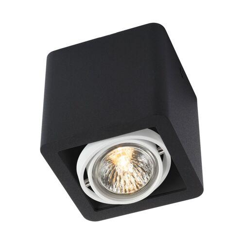 Trizo21 R51 Up GU5,3 Deckenspot, schwarz mit schwarzem Ring