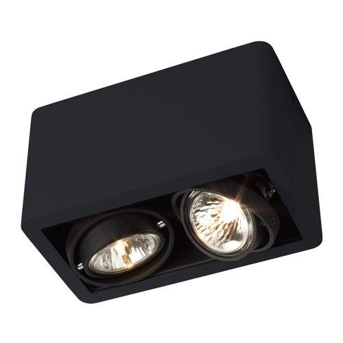 Trizo21 R52 Up GU5,3 Deckenspot, schwarz mit schwarzem Ring