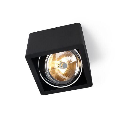 Trizo21 R110 Up G53 Deckenspot, schwarz mit schwarzem Ring
