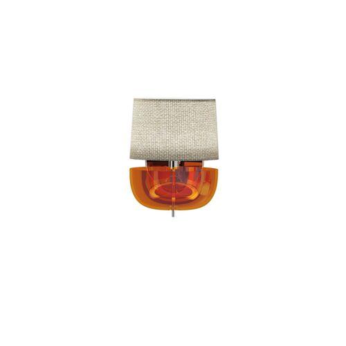 De Majo Dome A13, Glas taubengrau / Schirm cremefarben