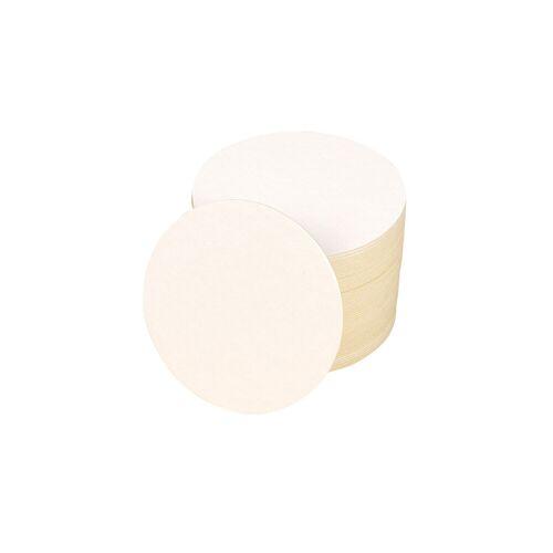 Folia Blanko Bierdeckel, rund, 100 Stück