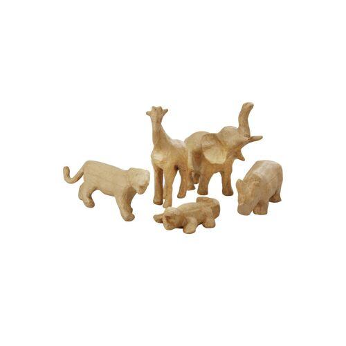 efco Pappmaché Tierset mit 5 Tierfiguren