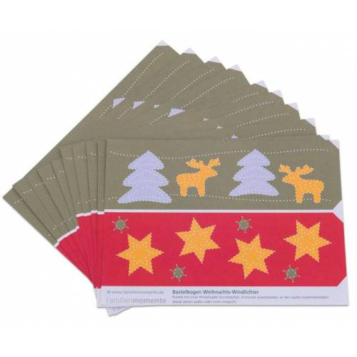 Familienmomente Prickel-Windlichter Weihnachten, 10 Stück
