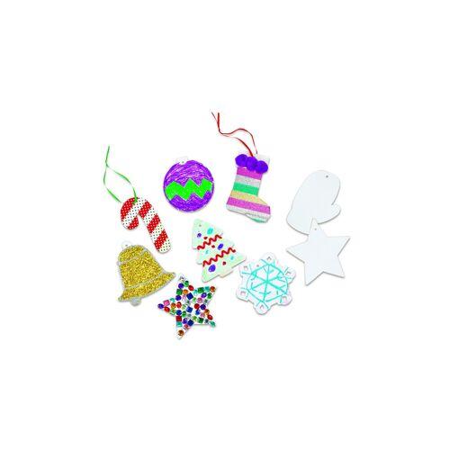 Colorations Papp-Weihnachtsanhänger, 48 Stück