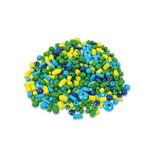 Playbox Holzperlen-Mix, blau/grün, ca. 450 Perlen