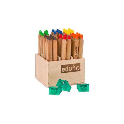 Betzold 36 Buntstifte im Holzaufsteller mit Spitzer