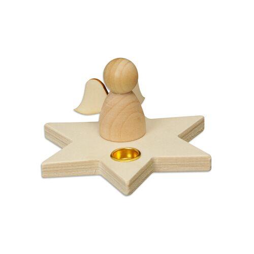 Betzold Kerzenhalter Stern mit Engelchen