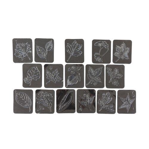 Betzold 16 Rubbel-Platten: Blätter