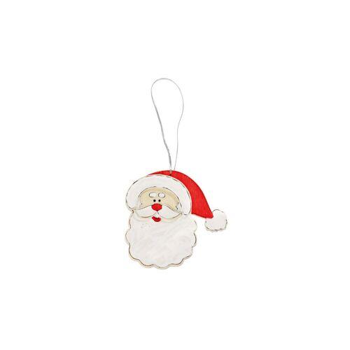 prohobb Holzanhänger Weihnachtsmannkopf, 10 Stück