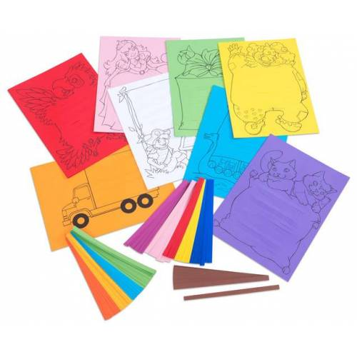 Folia Flechtpapier-Set