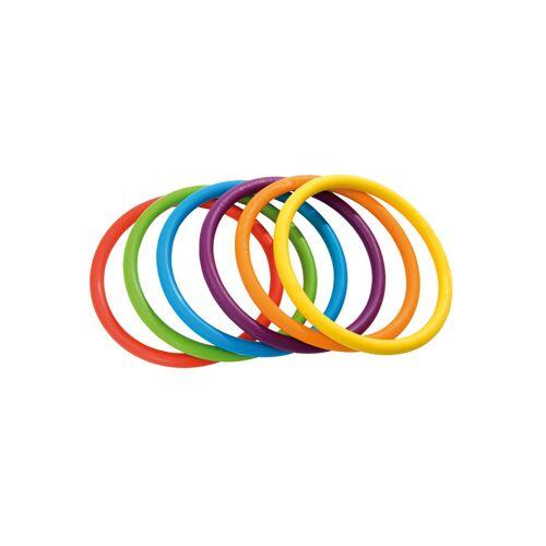 Gonge Regenbogen-Ringe, 6 Stück