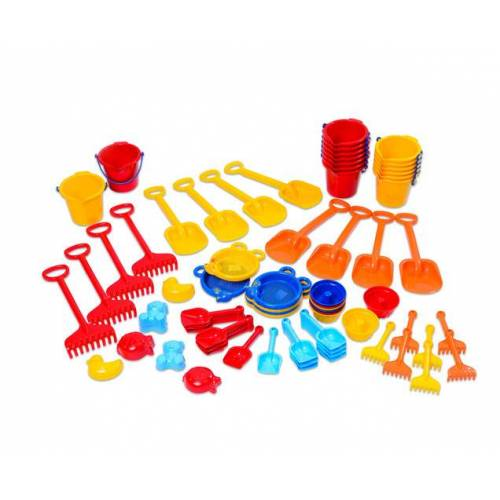 Gowi Jumbo Pack Krippen Sandspielzeug, 72 teilig