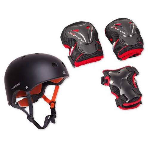 HUDORA Protection-Set: Helm inkl. Protektoren