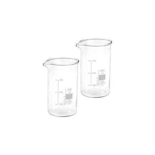 Hecht Assistent Becherglas, 400 ml, 2 Stück