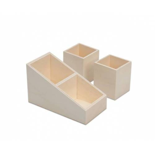 Creotime Stifte-Organizer, aus Holz, 3er-Set