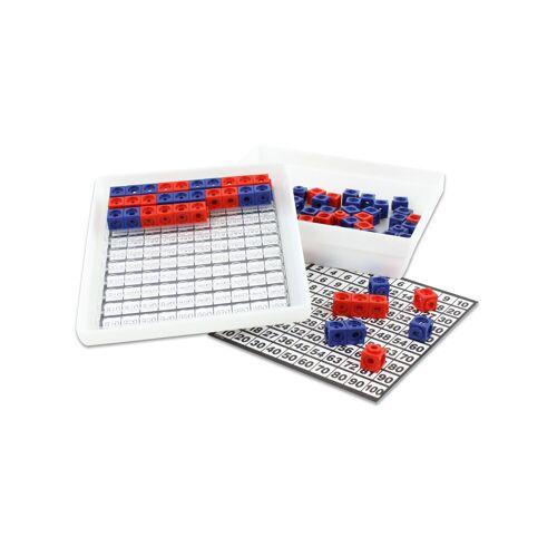 Dick-System Steckwürfel-Multibox mit 100 Stück (rot/blau)