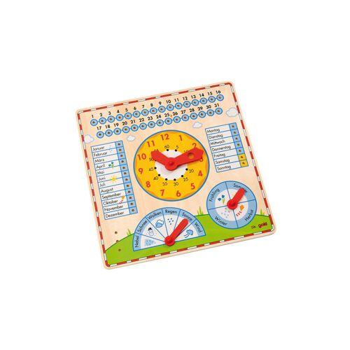 goki Kalendertafel mit Uhr