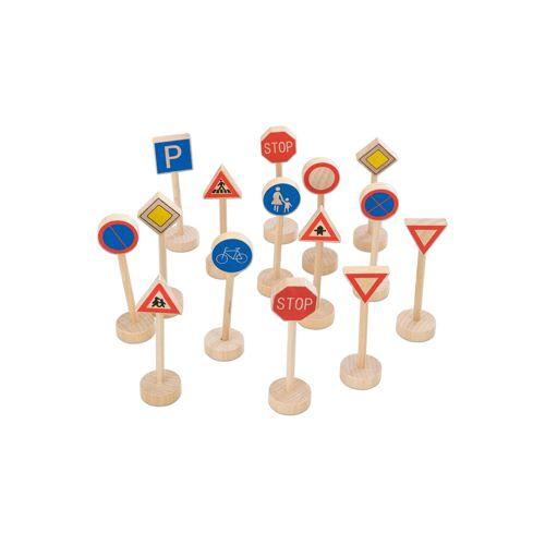 goki Verkehrszeichen aus Holz, 15-tlg.