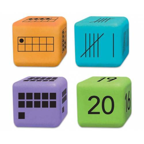 Learning Resources 16 Zahlendarstellungs-Würfel